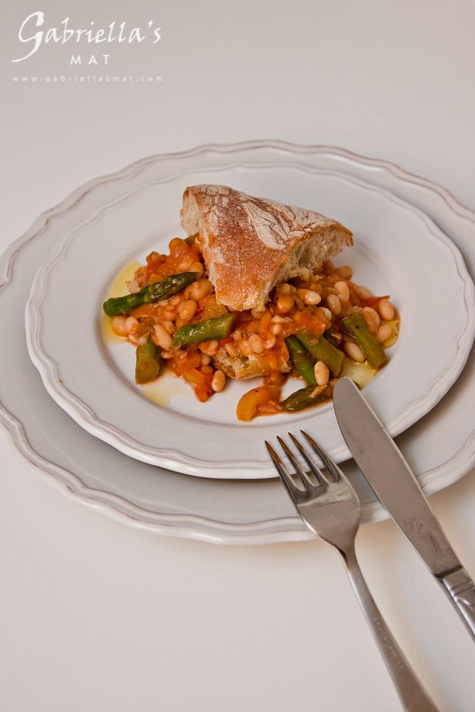 Bönrisotto med Sparris & Tomat
