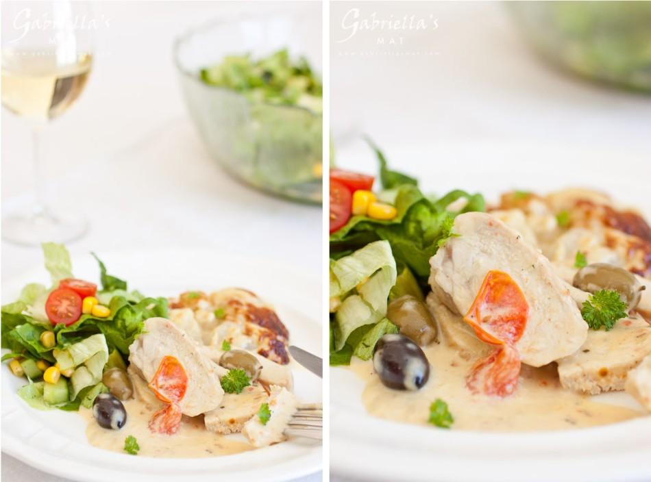 kyckling med oliver och rosmarin