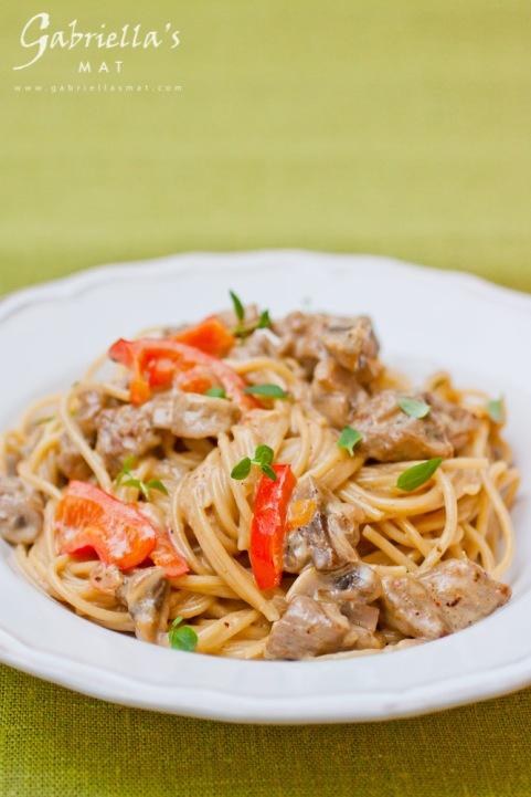 spagetti med gorgonzola